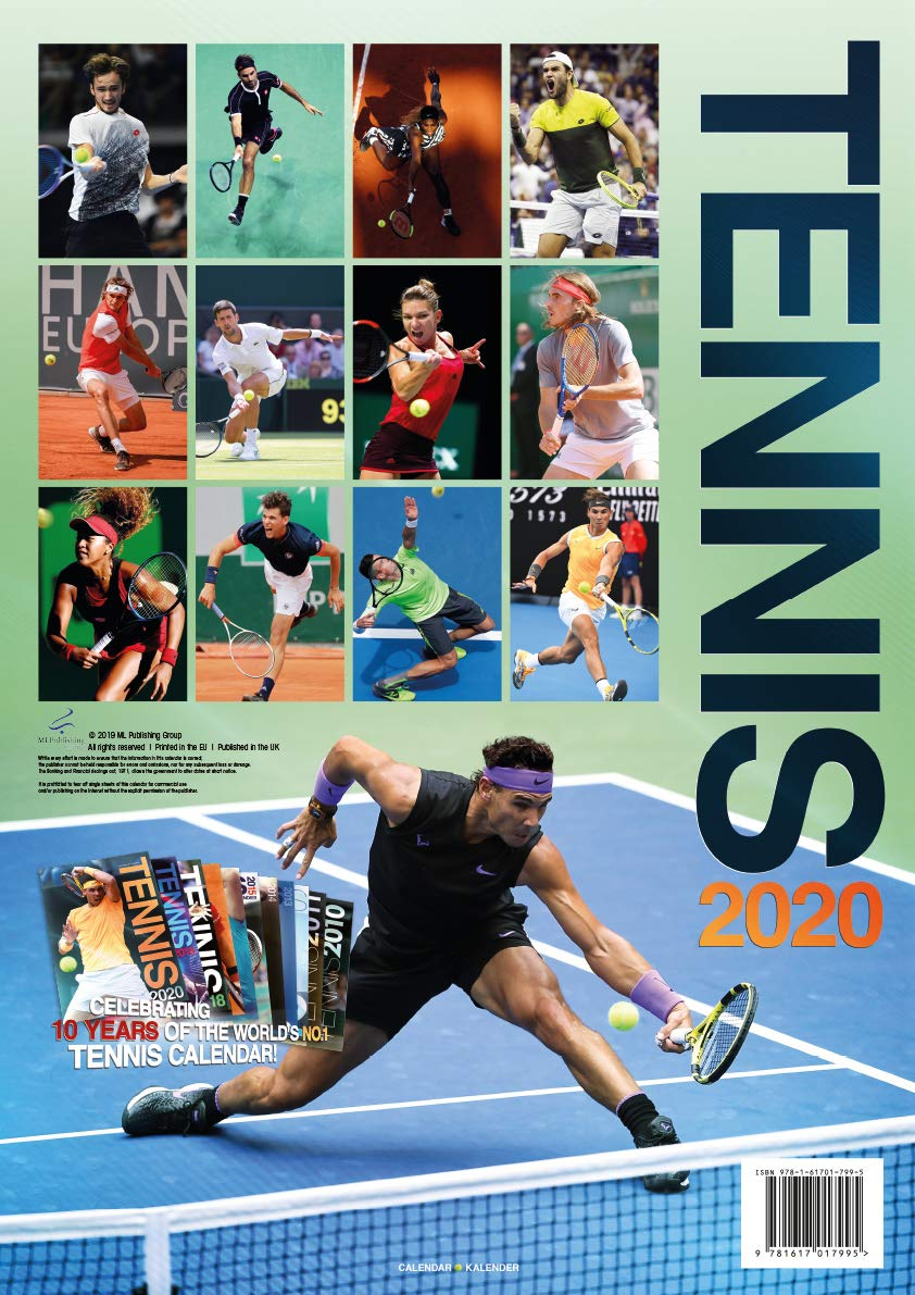 Tennis 2020 Calendar (English, German and French Edition ...
