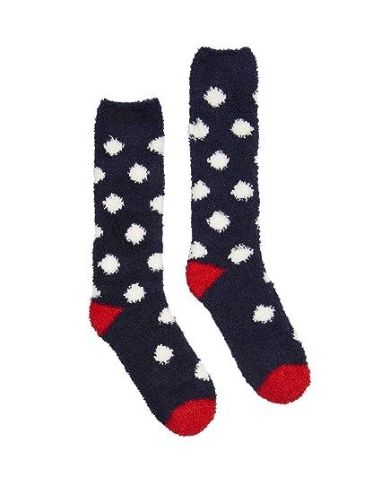 Joules Fabulously Fluffy, Calcetines de Estar por casa para Mujer, 100 DEN, Azul (Navy Spot), 37-40: Amazon.es: Ropa y accesorios