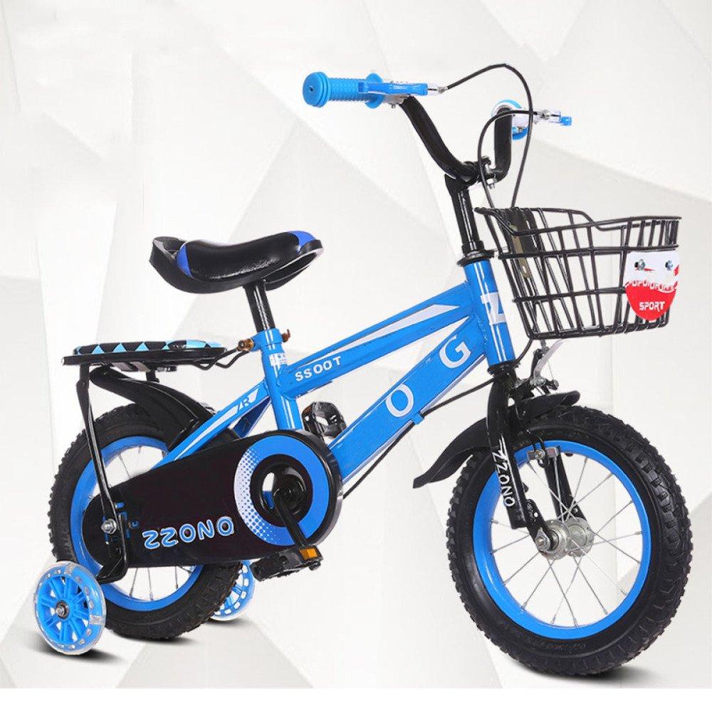 QXmEi自転車子2 , – , 7 , – 8-9 – 10 – 11 – 12 Years Old Boy自転車 B07DBV8GH2 12Inches|ブルー ブルー 12Inches