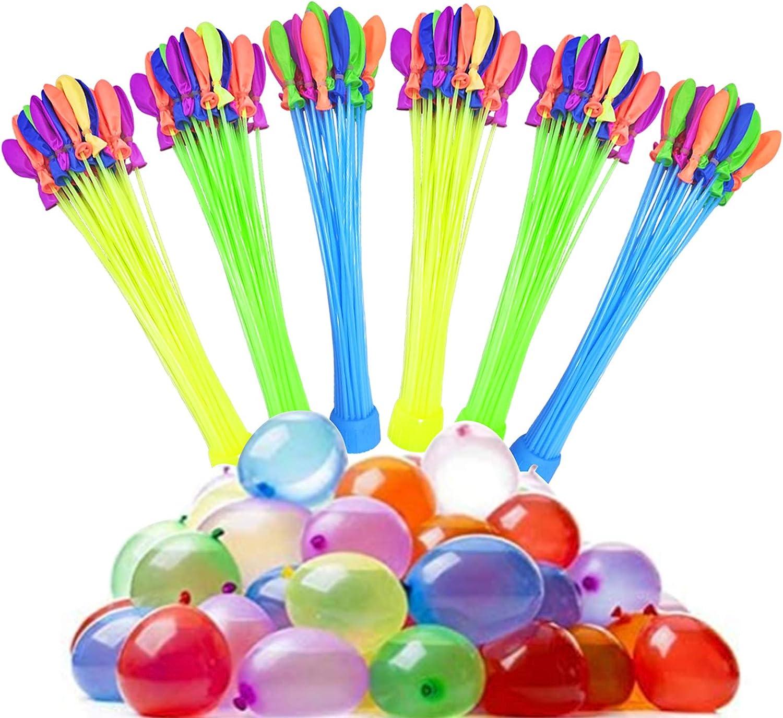 Lunriwis Globos de Agua para Juego,Globos de Agua Autosellado sin Nudos de Llenado Rápido 6 Manojos de Globos de Agua Coloridos,Water Balloons de Colores para Fiesta(1 Paquete 222)