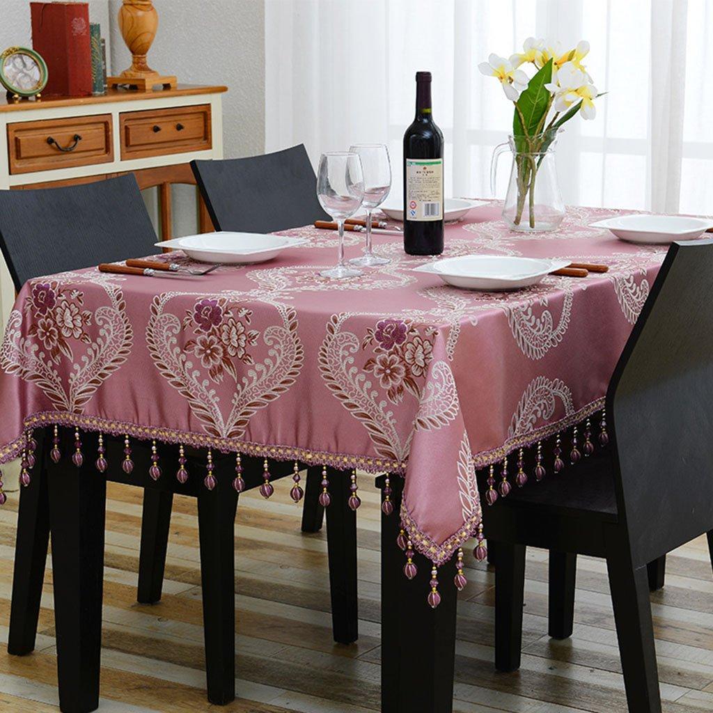 Europäische Tischdecke Tischdecke Rechteck Europäischen Tee Tisch Eine Lange Tischdecke Wohnzimmer Tischdecken (Farbe   B, größe   140  140cm) B 110170cm