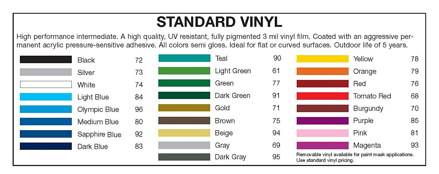 2 3M Vinyl Striping 150 25 Colors Available Brown