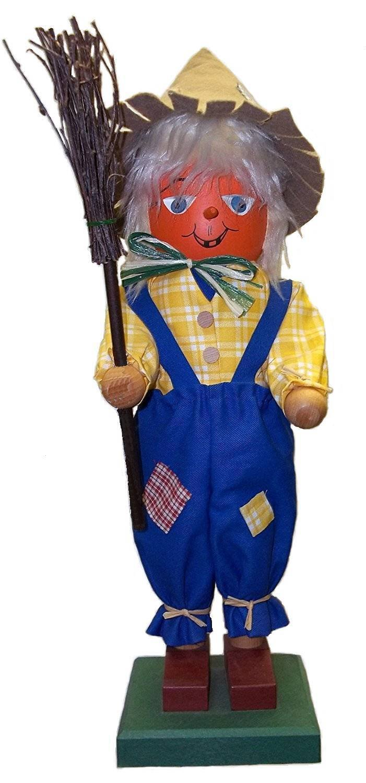 Retired Christian Ulbricht Wizard of OzScarecrow Wood Nutcracker, New