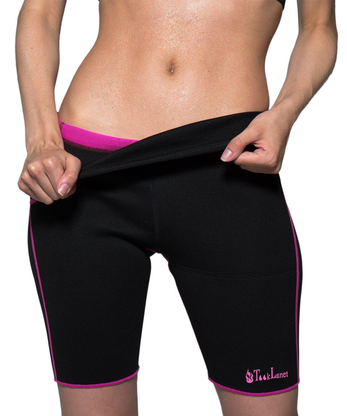6750041481 Tooklanet Women s Slimming Short Pants Hot Thermo Sweat Sauna Neoprene Body  Shapers Weight Loss