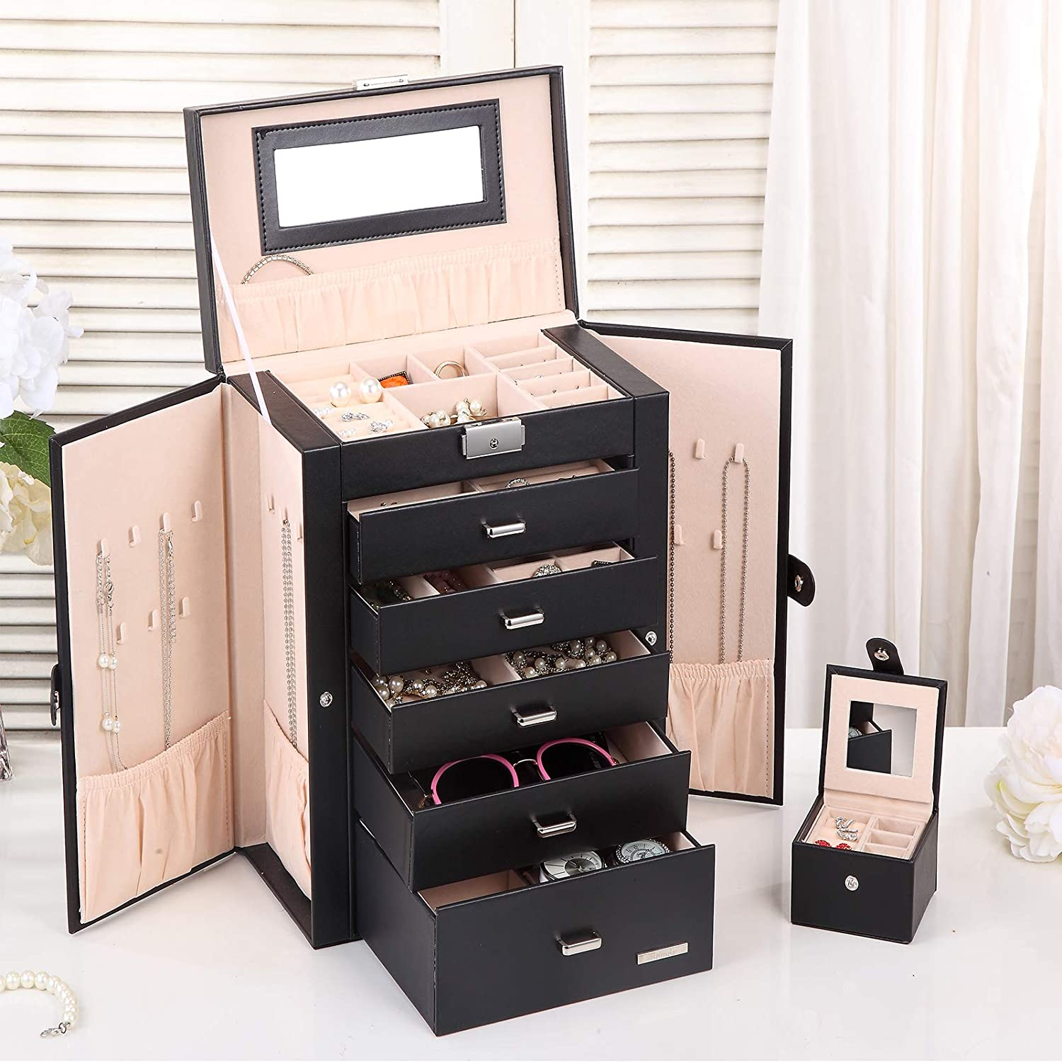 The most practical and useful gift for a woman over 40 has to be a jewelry box. It will contain all her jewelry in one place and she will never have to worry about looking for her jewelry as it will all be in one place. Gift it to her and see her face light up.