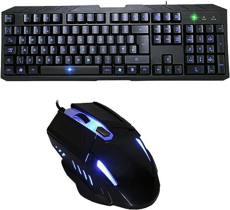 CiT Storm iluminado retroiluminación Led Gaming Teclado y ...