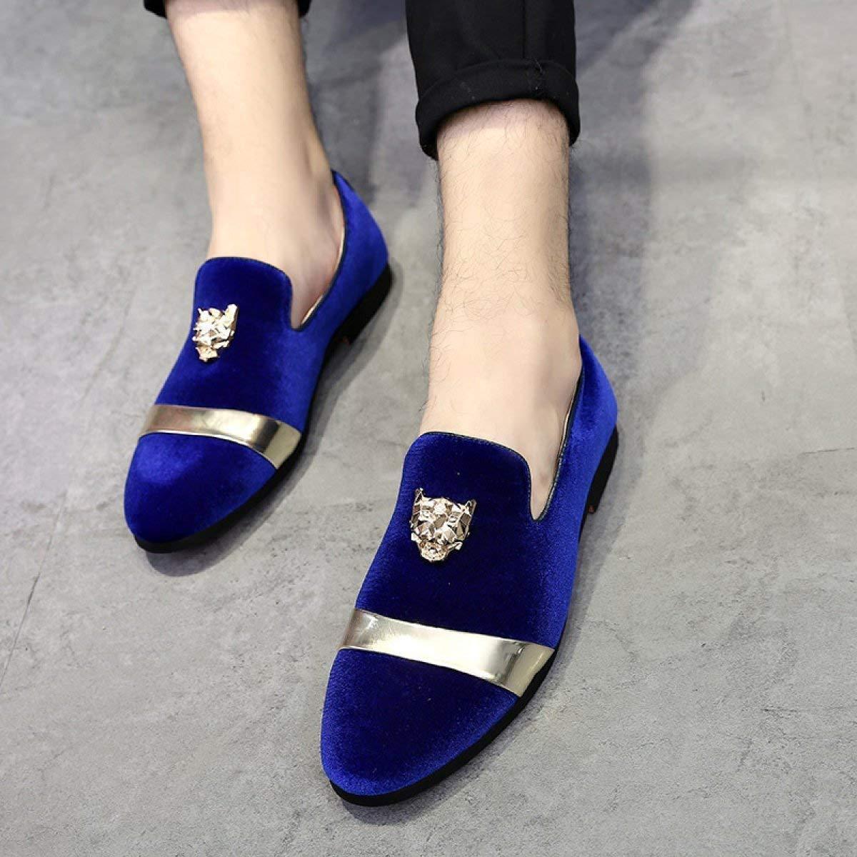 Matte Matte Matte Leder Low Schuhe Herren Freizeitschuhe (Farbe   Blau, Größe   42)  014fbe