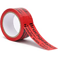 Plakband - verpakkingstape met indicatie op tape (gevaar voor breuken - Let op niet gooien - voorzichtig breekbaar glas…