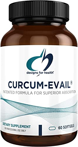Designs for Health Curcum-Evail – Bioavailable Turmeric Curcumin Proprietary Curcuminoid Blend with Turmeric Oil, Maximum Absorption to Support a Healthy Inflammatory Response 60 Softgels
