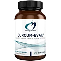 Designs for Health Curcum-Evail - Bioavailable Turmeric Curcumin & Proprietary Curcuminoid Blend with Turmeric Oil, Maximum Absorption to Support a Healthy Inflammatory Response (60 Softgels)