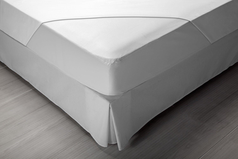 Pikolin Home - Protector de colchón acolchado cubre colchón, 100% algodón, tejido y relleno, transpirable, 200 x 200 cm, cama 200 cm (Todas las medidas): ...