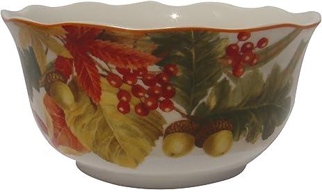 Amazon.com: 222 Fifth Autumn Celebration Cereal Bowls, Set of 4 ...
