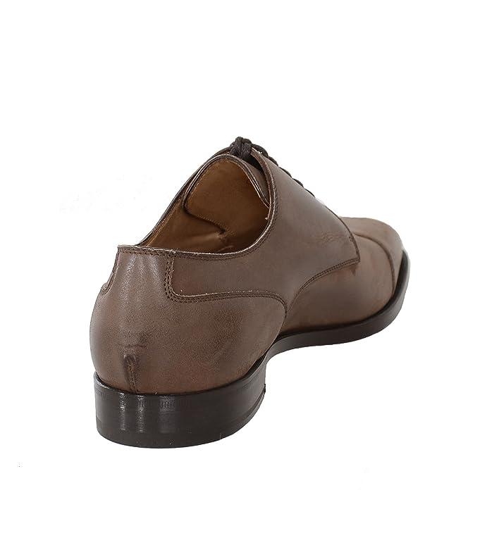Amazon.com: Sutor Mantellassi 8 1/2 Brown Leather Derby Blucher Toe Cap  Lace Up Dress Shoe: Clothing