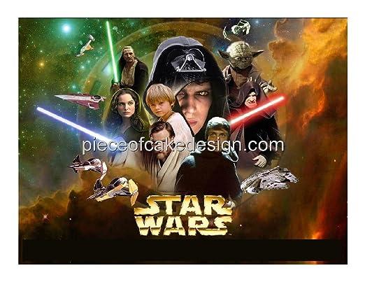 Star Wars Collage Cumpleaños ~ Comestible imagen Pastel ...