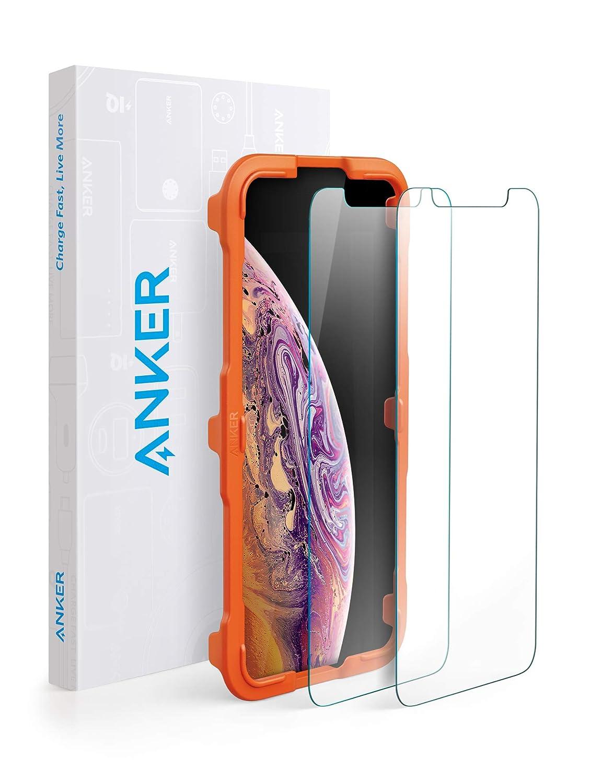 【2枚セット / 専用フレーム付属】Anker GlassGuard iPhone XS/X用
