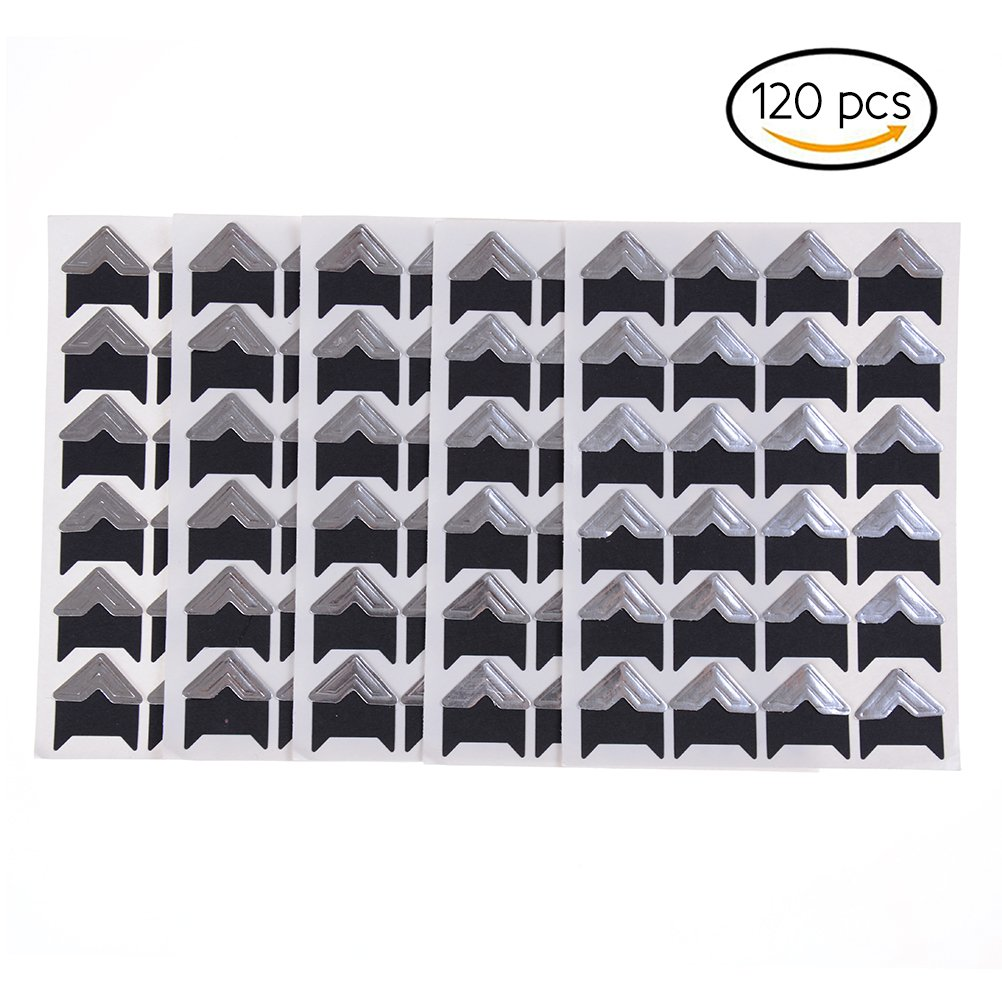120 Pcs//5 Sheet Self Adhesive Paper Compatible Photo Foto Corner Stickers for Scrapbooking Personal Journal /& Diary