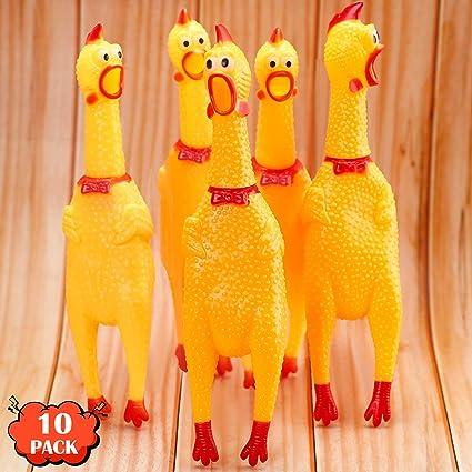 1X Kid Child Toy Shrieking Chicken Rubber Squeeze Sound Screaming Toy For Fun