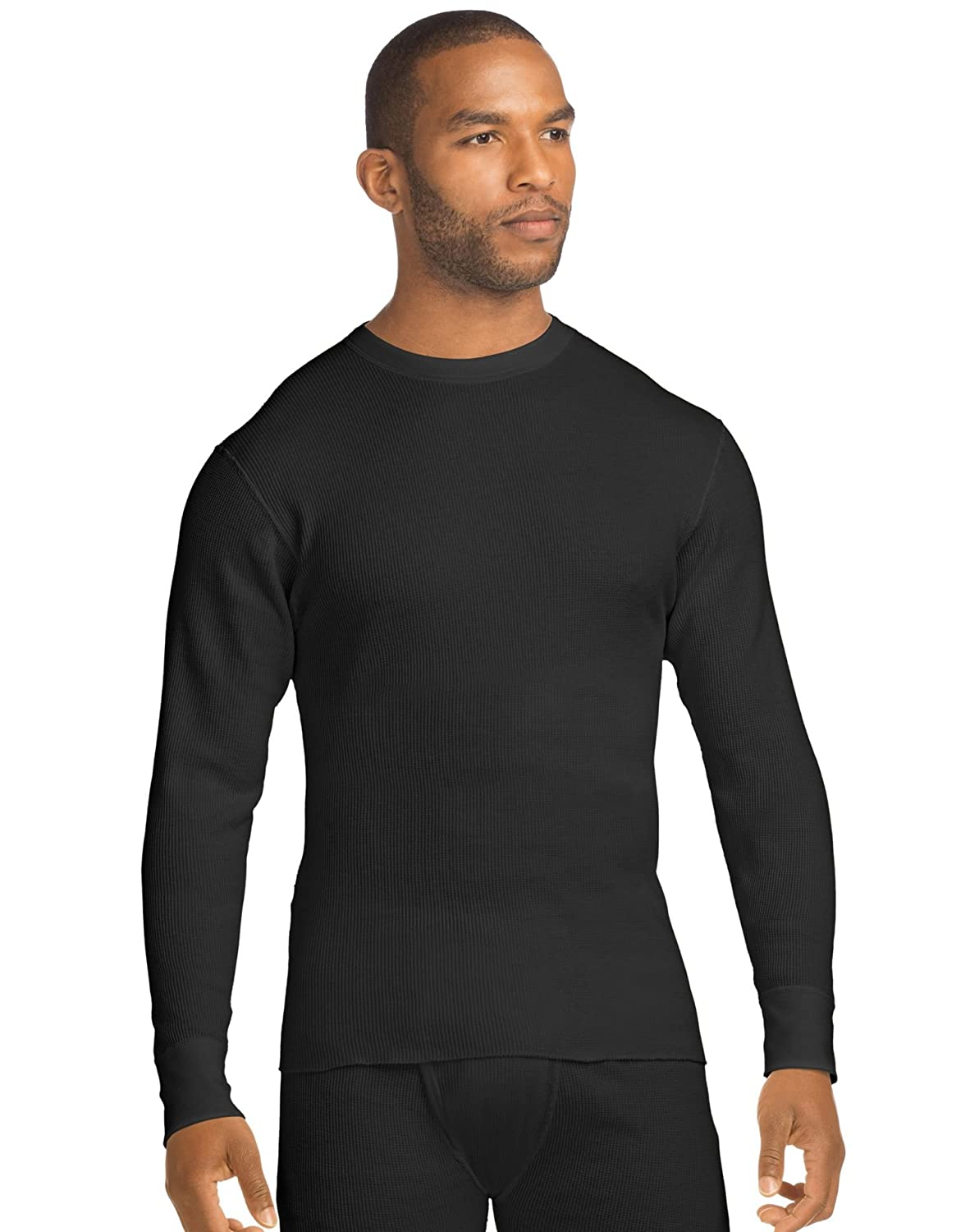 Hanes Mens BEEFY Organic Cotton Thermal Crew 28569