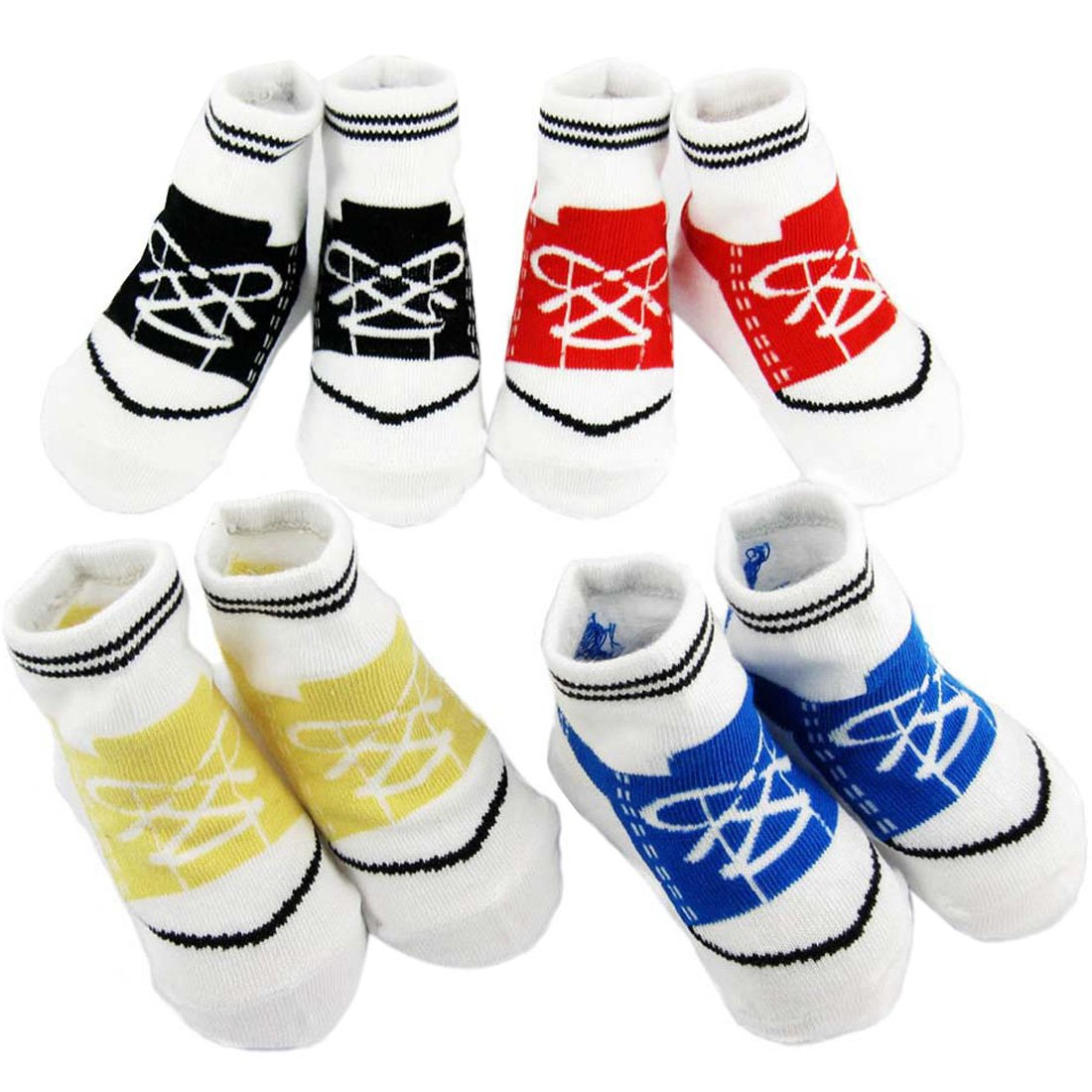 KF Baby Non-Skid Baby Boy Sneaker Socks