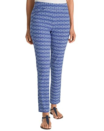 1b014c372877 Chico s Women s Travelers Collection Printed Crepe Ankle Pants Size 0 2 XS  (00 REG