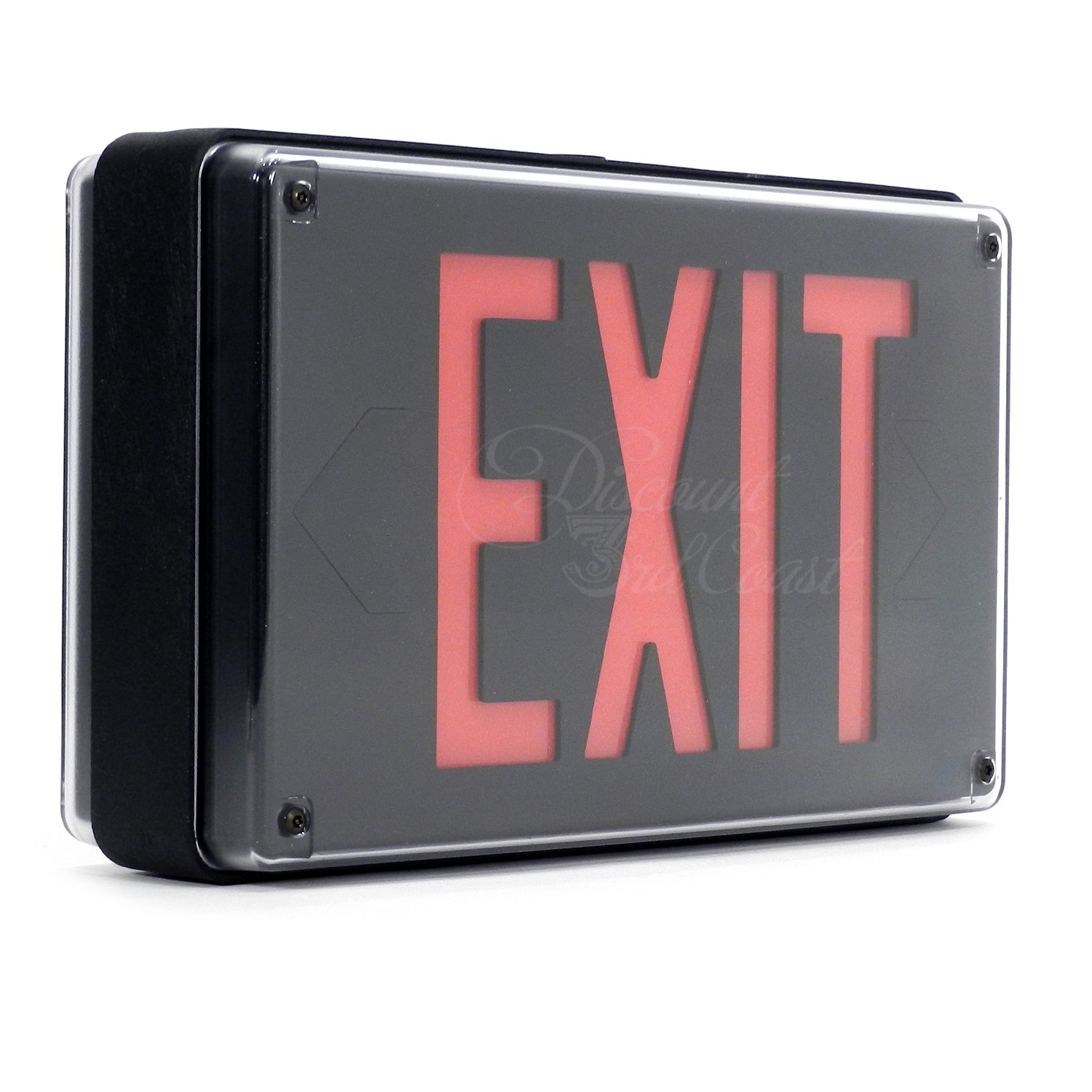 Lithonia Lighting Extreme LED Exit Sign LV S 2 R 120/277 UM, Two Sided, Cast Aluminum