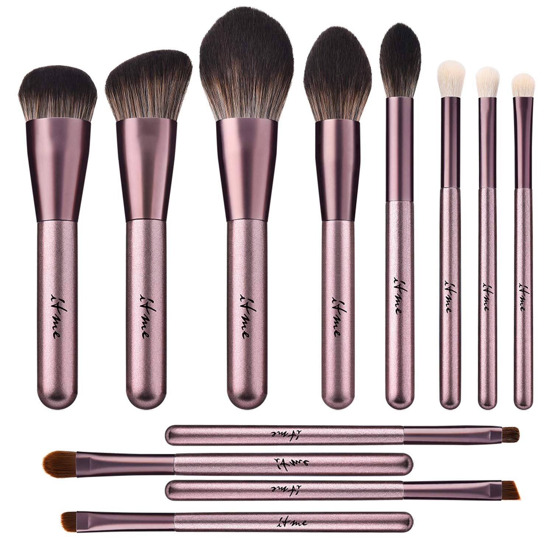 d045e36d239f ITME Makeup Brushes 12 Pcs Premium Synthetic Foundation Powder Concealers  Eye Shadows Makeup Brush...