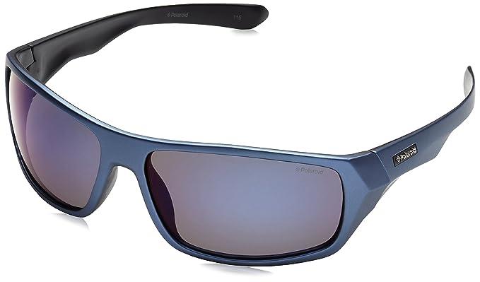 Polaroid P7417-9N7, Gafas de Sol para Hombre, Azul, 64