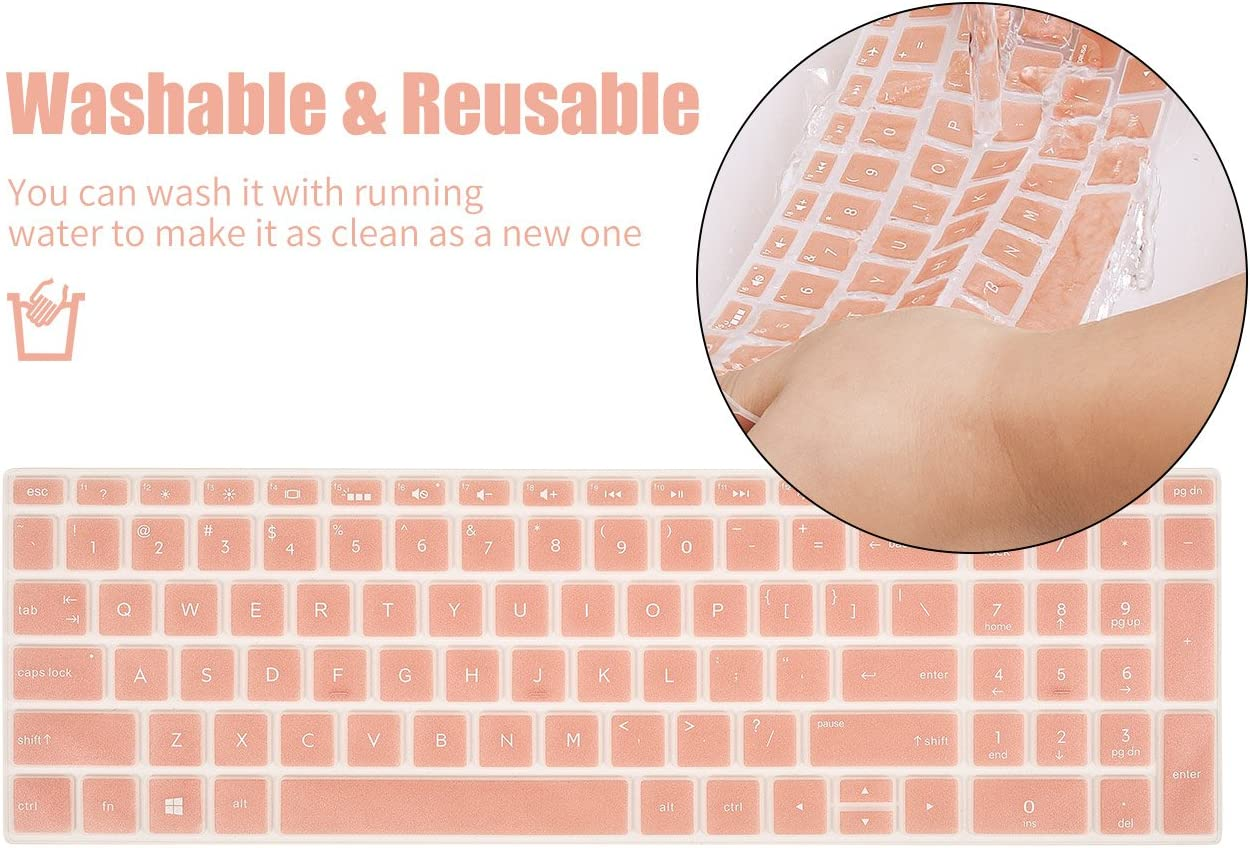 Keyboard Protector Skin Cover Compatible HP Pavilion 15.6 2018 NewSeries,HP Pavilion x360 15-BR075NR,HP Pavilion 15-BS 15-BW 15-CC 15-CB 15-CD,HP ENVY x360 15M-BP 15M-BQ,17.3HP ENVY 17M 17-BS Black