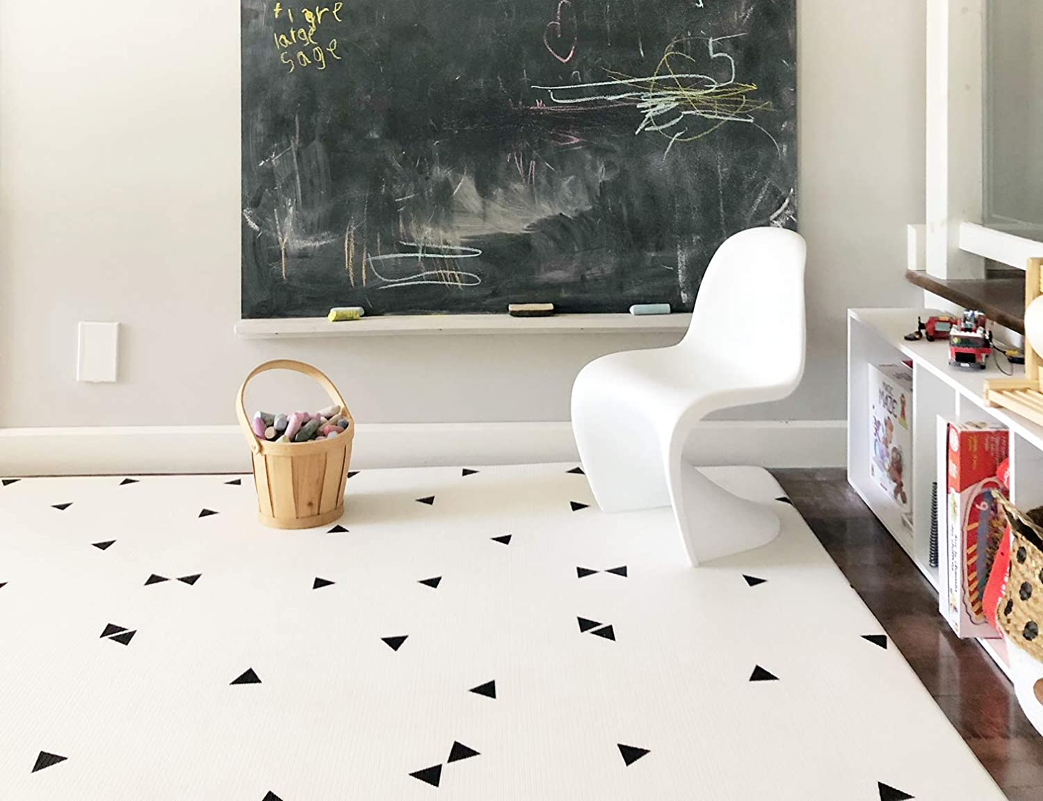 Ofie mat, zen line and triangle by Little Bot, 2m x 1.4m size, baby play mat, soft foam mat, durable and pets friendly, non-toxic, by Little Bot Little Bot Inc.