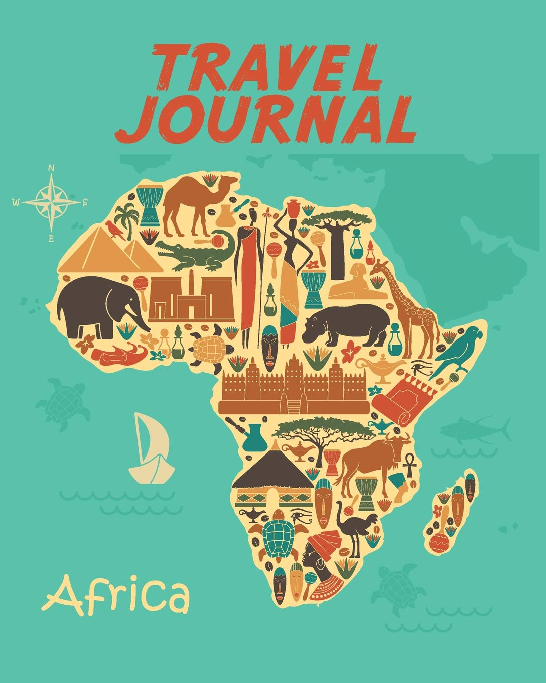 Map Of Africa For Kids Travel Journal: Map Of Africa. Kid's Travel Journal. Simple, Fun