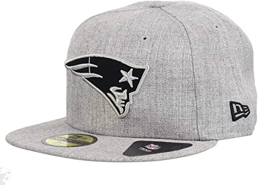 New Era 59Fifty Cap GRAPHITE New England Patriots grau