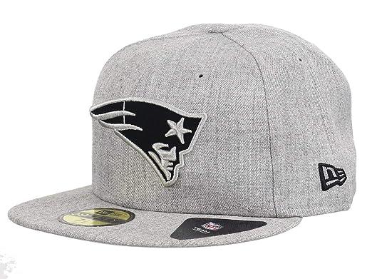New Era NFL Heather 59Fifty Cap New England Patriots Grau  Amazon.de   Bekleidung e667ced97df