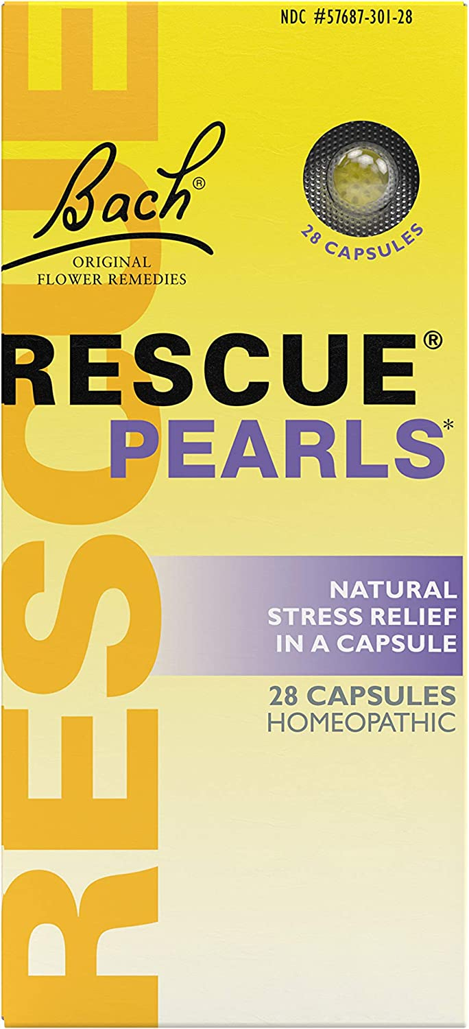 RESCUE PEARLS, Homeopatic Stress Relief - 28 Capsules