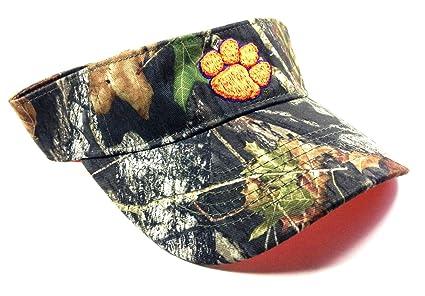 Amazon.com   Clemson Tigers Mossy Oak Camo Visor   Sports   Outdoors 6fd89cb6322