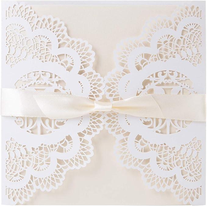 20pcs Laser Cut Party Invitations Cards Birthday Wedding Engagement Bridal Bride