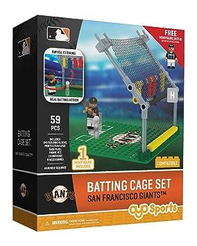 Amazon.com : Oyo Sportstoys MLB San Francisco Giants Batting Cage Set with Minifigure, Small, White : Sports & Outdoors
