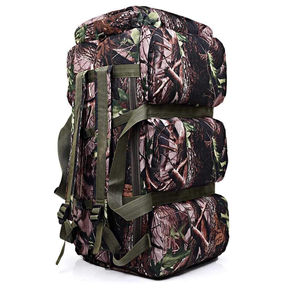 RMXMY 旅行バックパック90L、ハイキングデイパックウィークエンドアウトドアキャンプマウンテン女性用メンズ、大容量モバイル荷物登山キャンプ多目的キャンバスバックパック (色 : A) B07QPH5W1D A