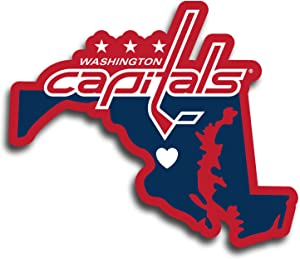 NHL Siskiyou Sports Fan Shop Washington Capitals Home State Decal One Size Team Color