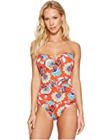 25f12fa89b Tommy Bahama Womens Pearl Twist-Front Bandeau One-Piece Swimsuit at ...