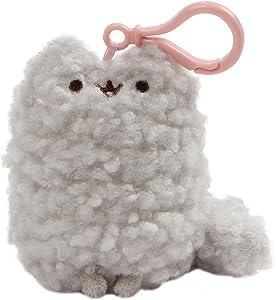 GUND Pusheen's Little Sister Stormy Cat Plush Stuffed Animal Backpack Clip, Gray, 5