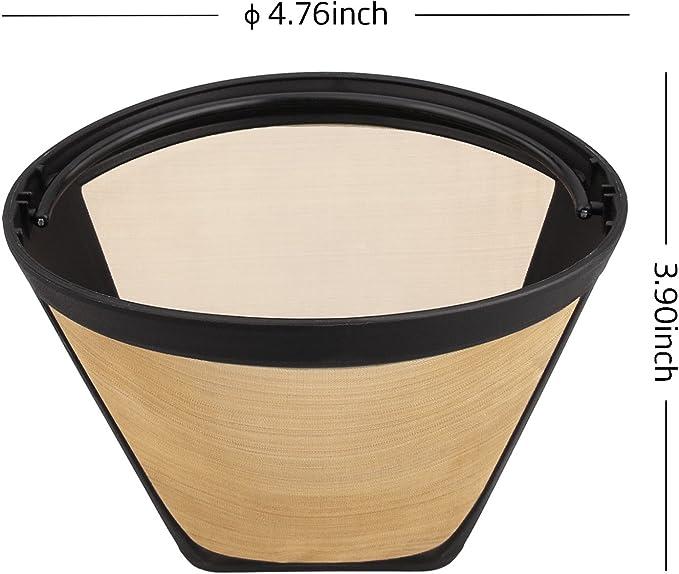 Reusable Cone Shape Permanent Coffee Filters Universal Metal Mesh BPA Free Tools