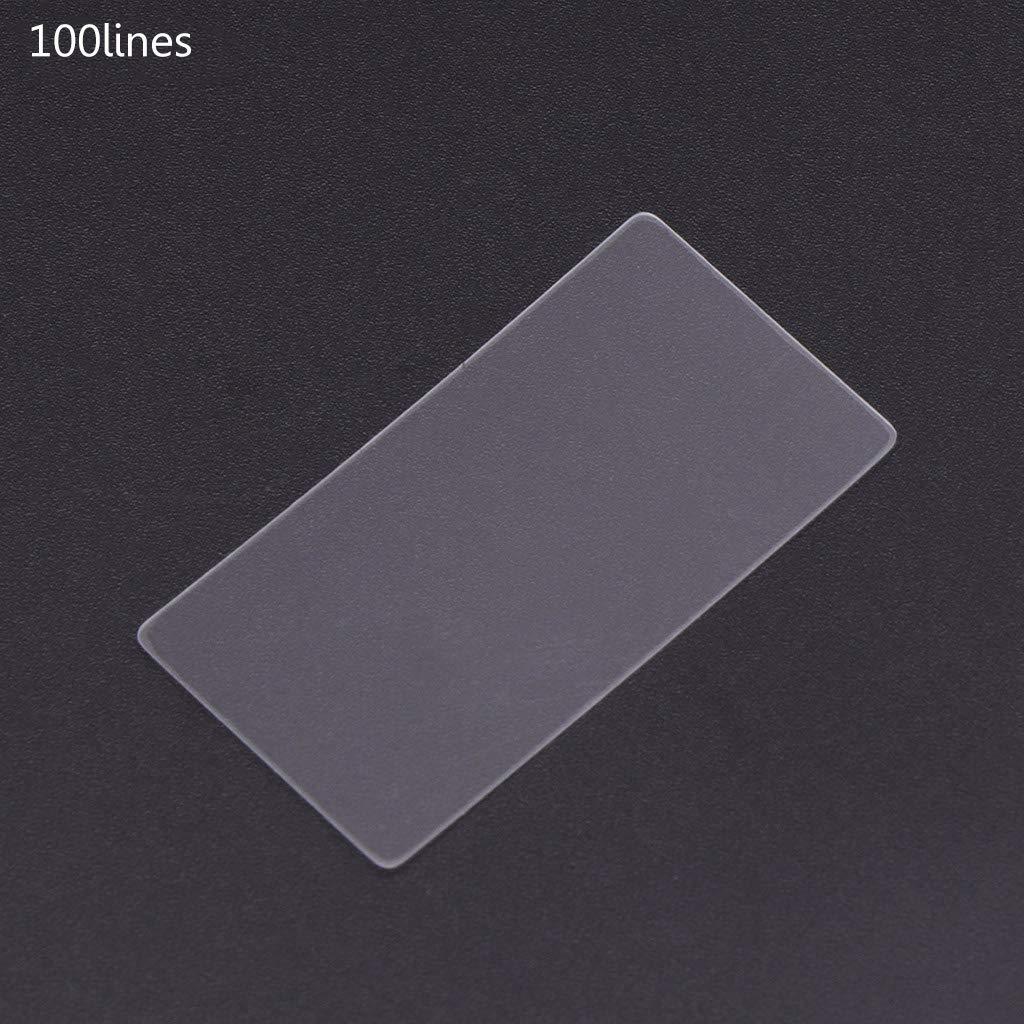 GROOMY /Ultra pr/écision de r/éseau de Diffraction de Pet de Trasmission de Gravure Nano de 36x38mm 100 Lignes