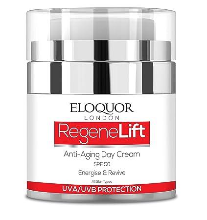 Eloquor RegeneLift crema de día antiedad con SPF | Crema hidratante facial con retinol, ácido