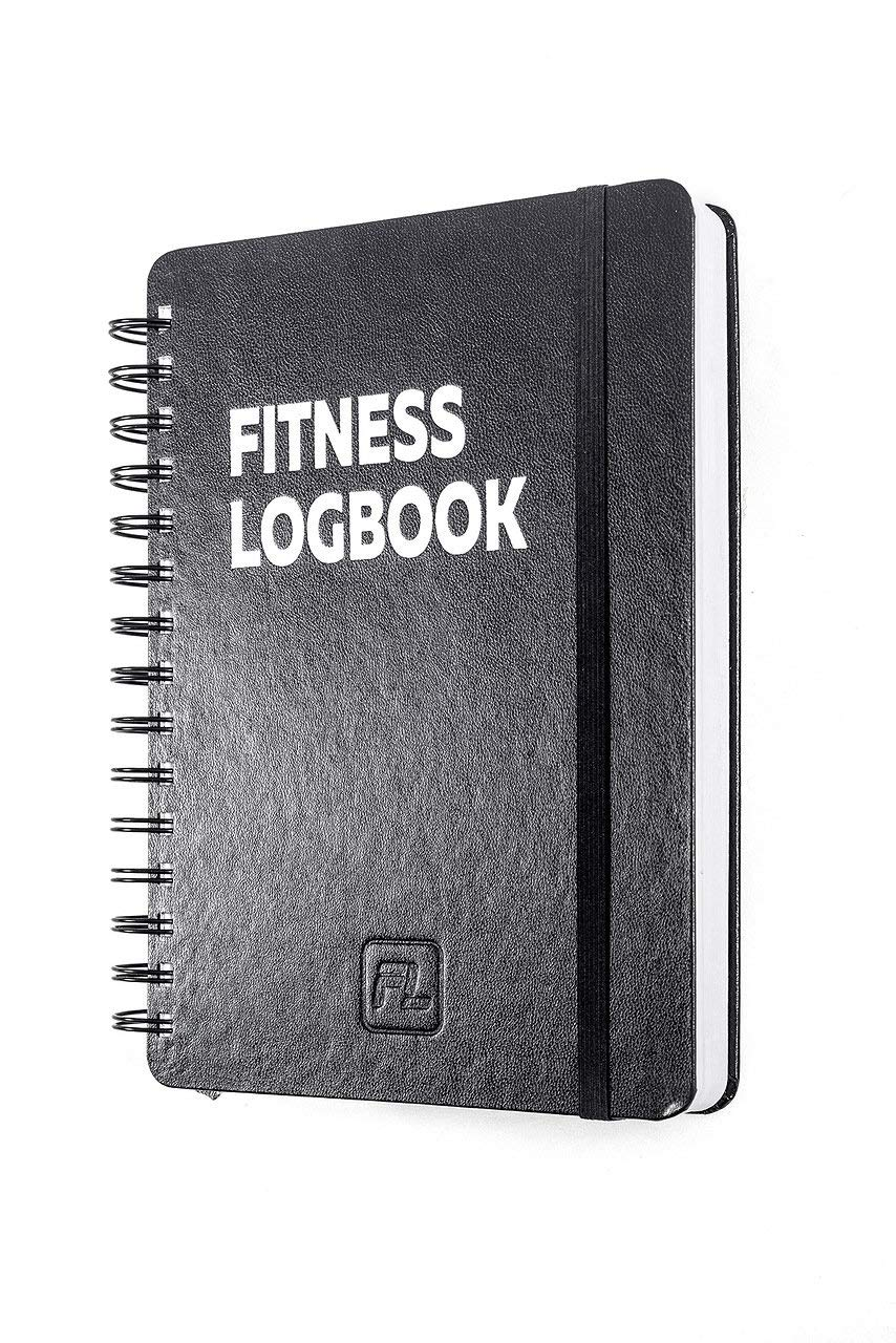Fitness Logbook Heavy: Undated Workout Journal – 6 x 8 inches – Thick Paper, Hard Cover, Round Corners, Sturdy Binding…