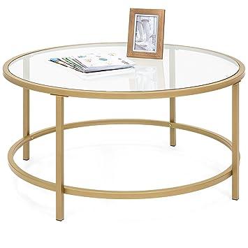 Amazon.com: Best Choice Products mesa de centro redonda de ...