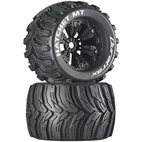 Monster Truck Tires >> Amazon Com Duratrax Hatchet Mt 3 8 Rc Monster Truck Tires With