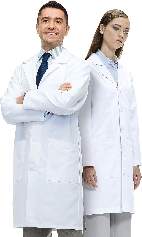 Lab Coat X Bata de Laboratorio Unisex, 100% Algodón, Corte Clásico, Blanco: Amazon.es: Ropa y accesorios