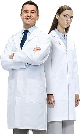 Lab Coat X Bata de Laboratorio Unisex, 100% Algodón, Corte ...