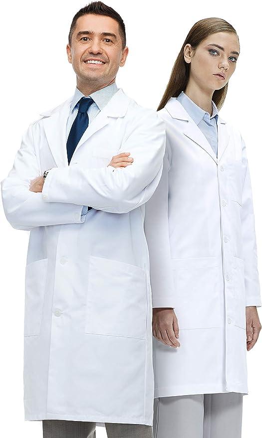 Amazon.com: Lab Coat X Lab Coat, Unisex, Classic Fit, 40 Inch Length, White: Clothing