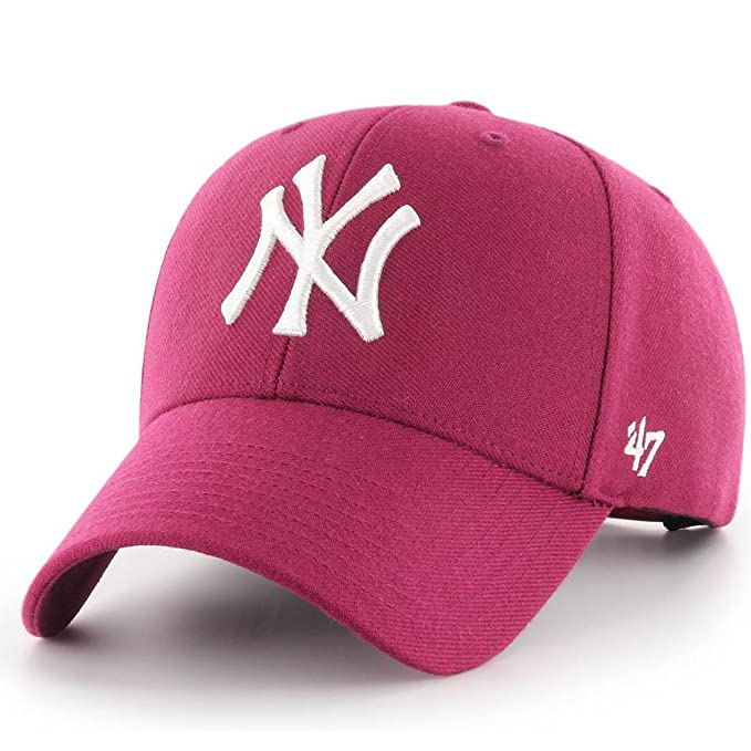 47_brand Gorra Mlb New York Yankees Mvp Curved V Struct fit granate talla: Ajustable: Amazon.es: Ropa y accesorios